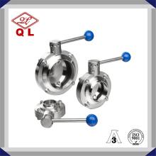 304 / 316L Санитарный сварной клапан-бабочка из нержавеющей стали