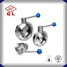 304 / 316L Санитарная нержавеющая сталь Сварной клапан-бабочка
