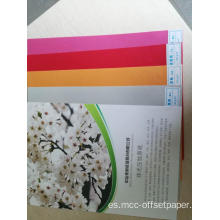 papel de color en relieve 95g