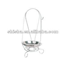 Acessórios de cachimbo de água de ferro grossa cor 2015 para o carvão vegetal de prata
