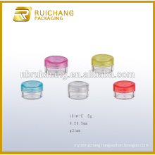 6g plastic cosmetic container/jar,cosmetic cream jar,plastic cosmetic jar,plastic cosmetic container,cosmetic cream container