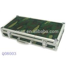 Nueva caja de diseño aluminio militar arma con espuma interior fabricante caliente vender