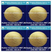 rubber vulcanizing accelerator MBT (M)for NR, IR, SBR, NBR, HR and EPDM CAS NO. : 149-30-4