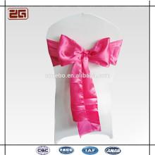 Hot Selling Factory Price Guangzhou Manufacture Décoration Wedding Satin Chair Sash pour Hôtel Banquet Party