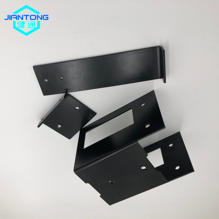 custom black painted laser cutting bending sheet metal stamping parts (3)