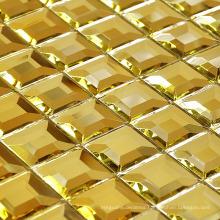 Gold Mosaic Tile Diamond Mirror Mosaic (HD043)