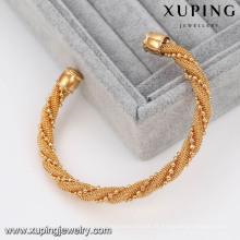 51459 Xuping Copper Sex Bangle Moda brazalete de giro ajustable Brazaletes