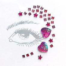 Venda por atacado de arte adesivo de cristal personalizado jóia face etiqueta da gema