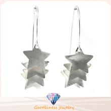 Großhandelsart und weiseschmucksache-Ohrring für Frauen-Ohr-Bolzen-Stern 18k Gold überzogene 925 Sterlingsilber-Ohrringe (E6581)