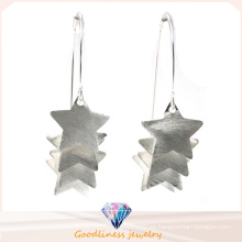 Pendiente de la joyería de la manera al por mayor para los pendientes del oído de la mujer El oro de la estrella 18k plateó los pendientes de la plata esterlina 925 (E6581)