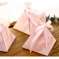 Pink wedding box candy gift