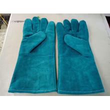 Зеленого цвета предохранения от безопасности кожаный перчатки заварки на экспорт