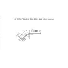 45° Metric Female O-Ring 24° Cone H.T. 20541-T