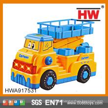 Desmontagem de 29cm de alta qualidade Carro elétrico musical grandes caminhões de brinquedo de plástico