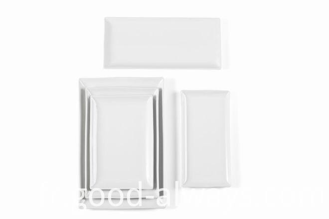 White Porcelain Rectangular plate