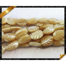 Mop Carved Leaf Shell Bead Fashion Gemstone (APS032)