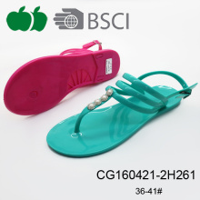 Trendy Fashionable Simple Style Summer Jelly Sandals