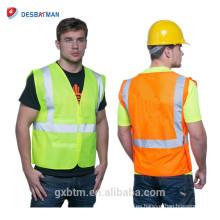 2018 Ansi Class 2 Chaleco fluorescente de alta visibilidad Cinturón reflectante Chaqueta de trabajo de seguridad Chaqueta de trabajo Chaleco de seguridad de invierno