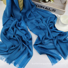 Solid long size shiny stripe viscose scarf womens