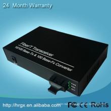 Monitorando o vídeo da segurança e o conversor audio dos meios de fibra óptica do Ethernet do conversor 10 / 100M Auto-negotiation