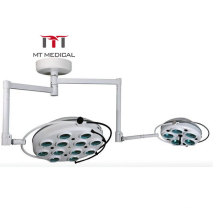 Cheap Led Ot Light Ceiling Two Domes Mounted Shadowless Surgical Operating Lamp