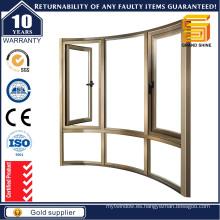 Compartimiento de perfil de aluminio y ventana colgante con precio de fábrica de seguridad