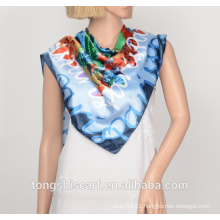 polyester printed triangle scarf 709-02 HB018
