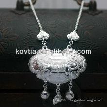 Роскошное ожерелье стерлингового серебра 925 для младенца