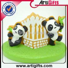 MOQ 100pcs customized lovely panda doll for birthday gift