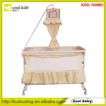 Cool Baby Children Prodcuts Multi Functional Swing Bed Deluxe Hight Pole Mosquito Net 4pcs wheels can be turned up Swing Crib
