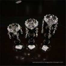 Выдвиженческий различных прочных через прозрачное стекло длинный стебель цветочный дизайн стеклянные подсвечники