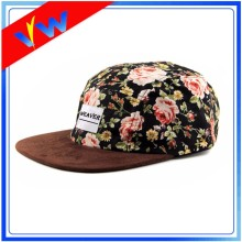 Suede Brim Floral Children 5 Panels Cap