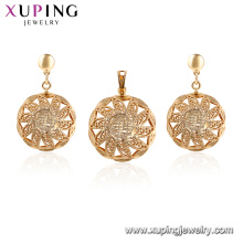64792 xuping 18k gold plated wedding jewelry African jewelry sets