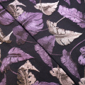 Purple Birds Feather Jacquard Eleganter Stoff