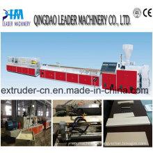 Máquina para fabricar terrazas de madera y plástico
