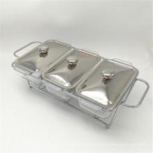 Calentador barato de la comida de la parte del acero inoxidable 3 del equipo de la comida fría de la cocina para abastecer