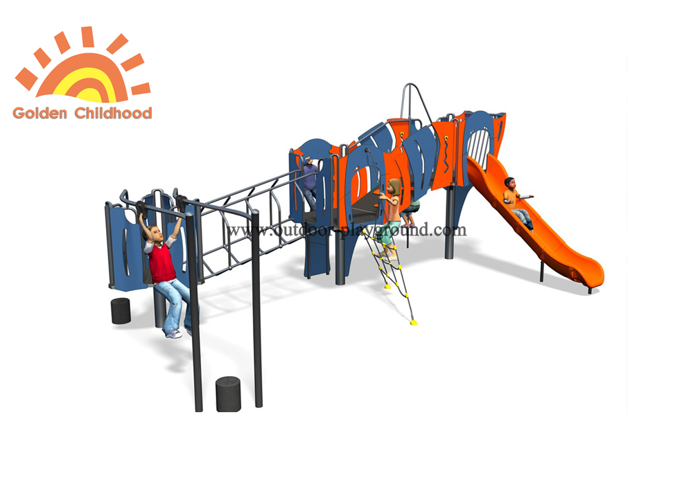 Mutiplay Outdoor Plastic Climbing Slide Equipment Playground