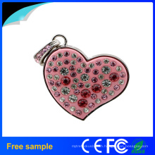 Promotional Girl′s Gift Heart Crystal Pendrive Jewelry 8GB USB Flash Drive