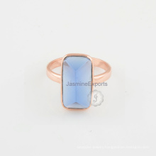 Tanzanite Quartz Rose Gold Plated Ring, 925 Sterling Silver Wholesale Ring Supplier