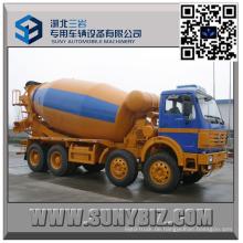 12 Wheeler North Benz 10000 Liter Betonmischer LKW
