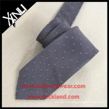Hombres tejidos grises de la tela cruzada de seda sólida caliente corbata personalizada