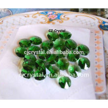 Cuentas de Octagon de cristal verde Lampwork