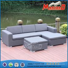 Mobília estofada ao ar livre do sofá do lazer