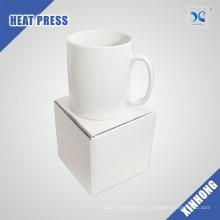 Venta al por mayor fácil de diseñar la sublimación en blanco taza blanca de Ceramica