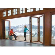 Luxury Villas Installation Double Glazing Aluminium Folding Door