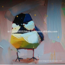Abstract Oil Painting of Bird