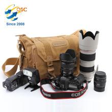 Wholesale Brown DSLR Camera Shoulder Bag Canvas Padded Shoulder Travel Bag
