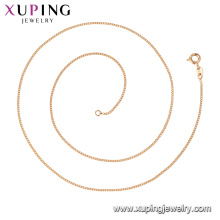 44738 Xuping Wholesale jewelry 18k gold plated simple classic style chain necklaces
