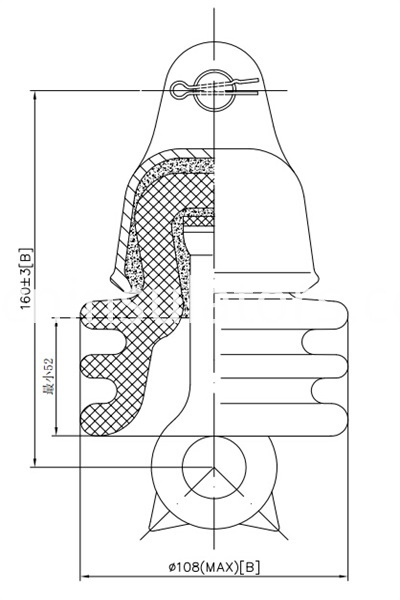 52-9 disc suspension insulator drawing