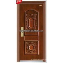 Qualitativ hochwertige nachgeahmt Kupfer Farbe Stahl Sicherheit Türen KKD-503 für Tür-Design